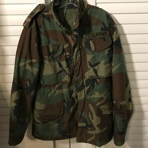 US Army Cold Weather Field Woodland Camo Coat, S